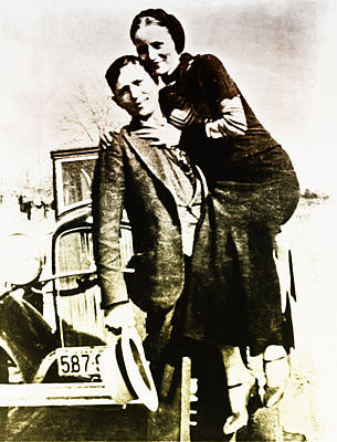 Bonnie And Clyde Poster by Bill Cannon