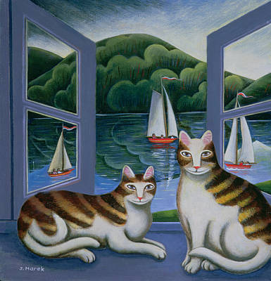 Bonny And Clyde Oil On Board Poster by Jerzy Marek