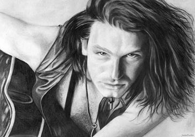Poster featuring the drawing Bono by Janice Dunbar