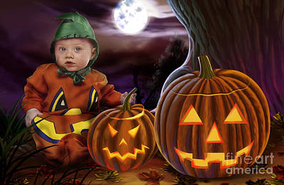 Boo Baby Pumpkins Poster by Bedros Awak