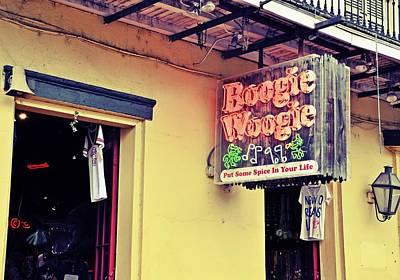 Boogie Woogie Neon Poster