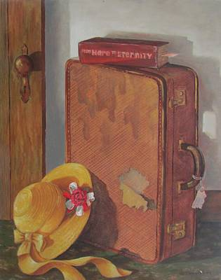 Poster featuring the painting Book Case by Tony Caviston