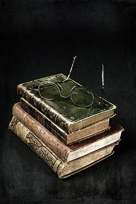 Books With Glasses Poster