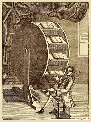 Bookwheel Illustration. Poster