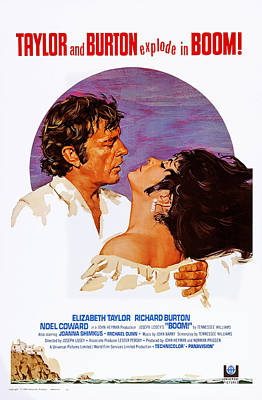 Boom, Us Poster, Richard Burton Poster by Everett