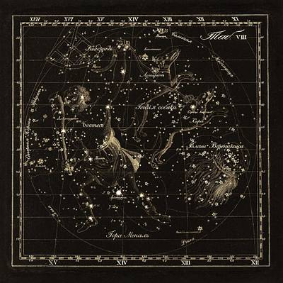 Bootes Constellations, 1829 Poster