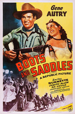 Boots And Saddles, Us Poster, Top Poster by Everett