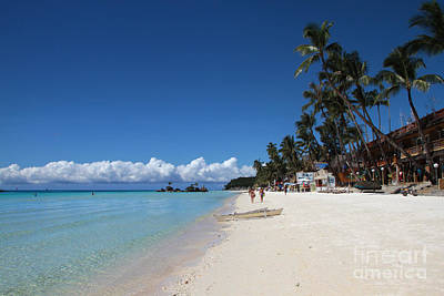 Poster featuring the photograph Boracay Beach by Joey Agbayani