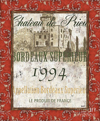Bordeaux Rouge 2 Poster by Debbie DeWitt