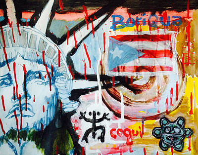 Boriqua Liberty Poster by Daniel P Cronin