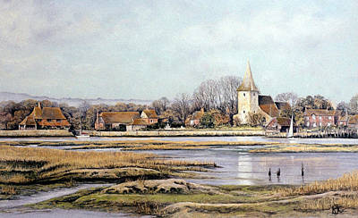 Poster featuring the painting Bosham Harbour by Rosemary Colyer