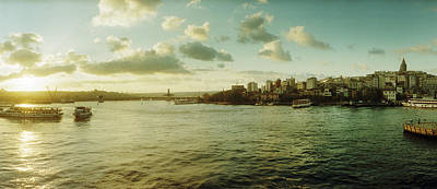 Bosphorus Strait At Sunset, Istanbul Poster by Panoramic Images