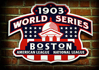 Boston Americans 1903 World Champions Poster by Stephen Stookey