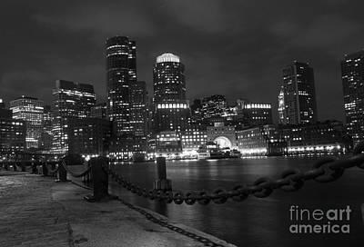 Boston At Night Poster by Juli Scalzi