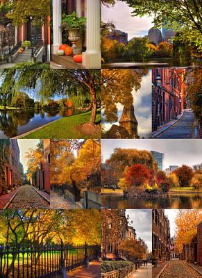 Boston Autumn Days Poster