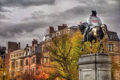 Boston Back Bay Rooftops In Autumn Poster