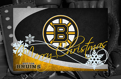Boston Bruins Christmas Poster by Joe Hamilton