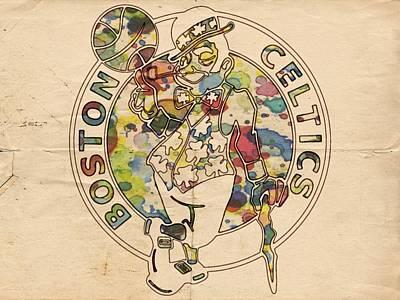 Boston Celtics Logo Vintage Poster by Florian Rodarte