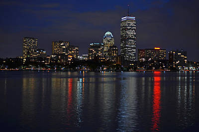 Boston Charles River At Night Poster by Toby McGuire