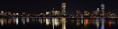 Boston Charles River Panorama Poster by Toby McGuire