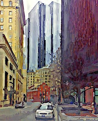 Boston City Centre Poster by Yury Malkov