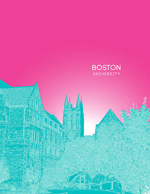 Boston College Gasson Hall Poster by Myke Huynh