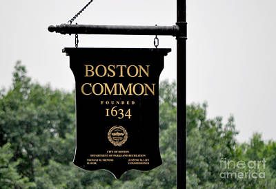 Boston Common Ma Poster