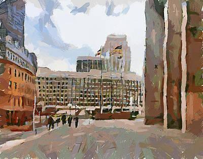 Boston Downtown 12 Poster by Yury Malkov