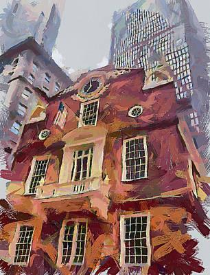 Boston Downtown 15 Poster by Yury Malkov