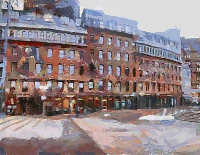 Boston Downtown 2 Poster by Yury Malkov