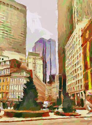 Boston Downtown 6 Poster by Yury Malkov