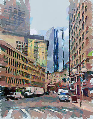 Boston Downtown 7 Poster by Yury Malkov