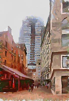 Boston Downtown 9 Poster by Yury Malkov