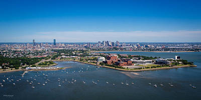 Boston From 500 Feet Poster by Paul Treseler