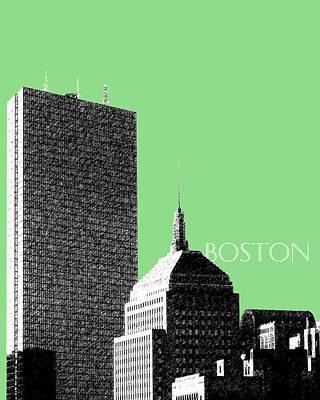 Boston Hancock Tower - Sage Poster