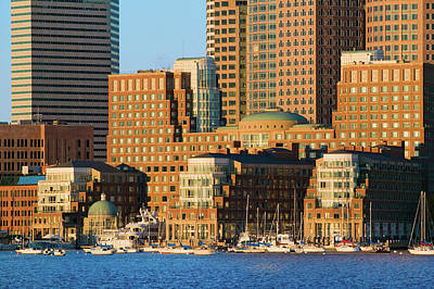 Boston Harbor And The Boston Skyline Poster