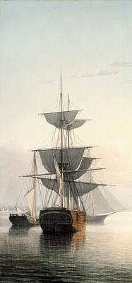 Boston Harbor At Sunset Detail 2 Poster