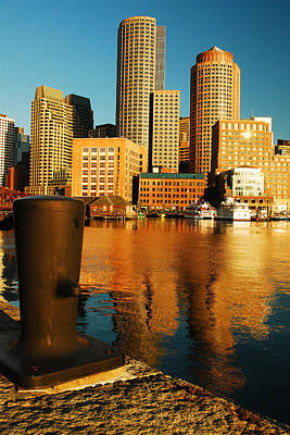 Boston Harbor Poster by James Kirkikis