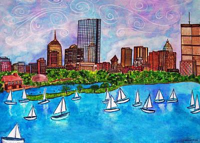 Boston Harbor Poster by Janet Immordino