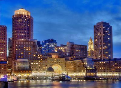 Boston Harbor Sunset 2 Poster by Joann Vitali