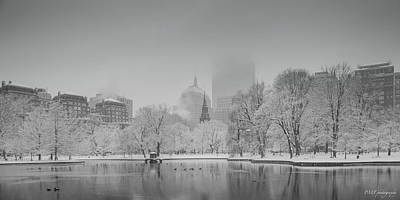 Boston In Snow Poster