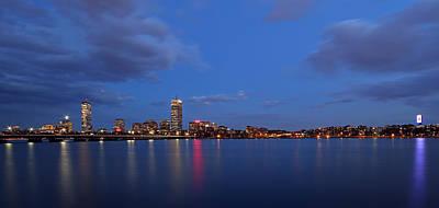 Boston Landmarks And Cisco Sign Poster