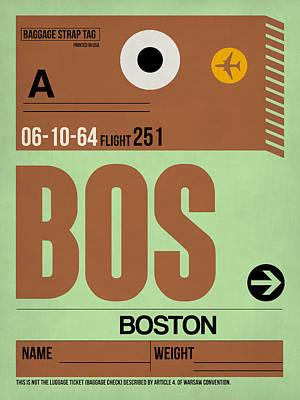 Boston Luggage Poster 1 Poster by Naxart Studio