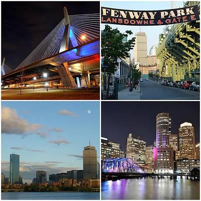Boston Ma Collage Poster