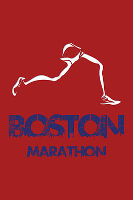 Boston Marathon1 Poster by Joe Hamilton