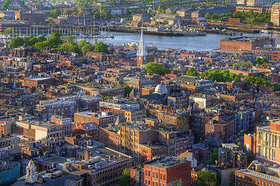 Boston North End Rooftops Poster