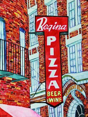 Boston Pizzeria  Poster by Janet Immordino
