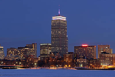 Boston Prudential Center In Patriots Gear Poster by Juergen Roth