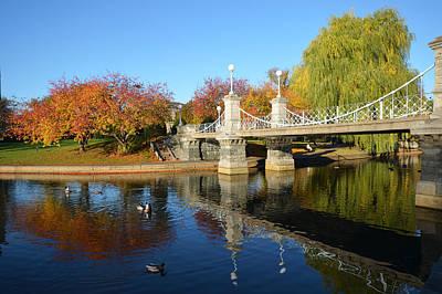Boston Public Garden Autumn Poster by Toby McGuire