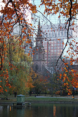 Boston Public Garden In Autumn Poster